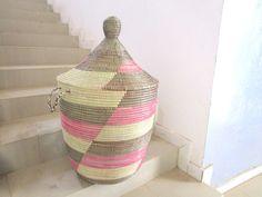 Storage Basket Handmade out of grass in Senegal Hamper, Storage Baskets, Grass, Organization, Handmade, Home Decor, Products, Getting Organized, Organisation