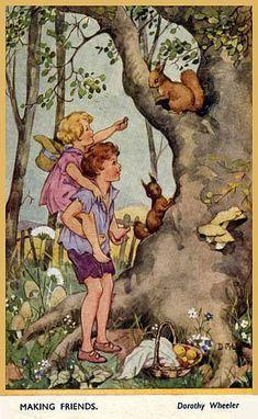 "Dorothy Wheeler (1891-1966) ""Making Friends"""
