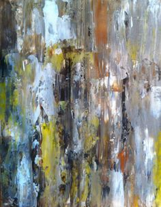 Abstract Art Painting Yellow White Brown on Etsy