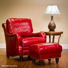 King Hickory  Chair and Ottoman