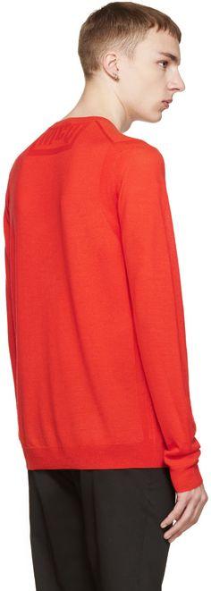 McQ Alexander Mcqueen Red Wool Knit Pullover