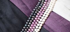 Check out our Nocturne, Mulberry, and Alpine shawls with Hazel & Marie Pearls. SHOP http://shokay.com/collaborations/hazel-marie-for-shokay.html