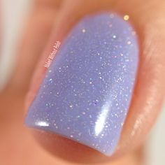 Macro of Blue-Eyed Girl Lacquer Manna's Majestic Masterpiece from The Color Box Purple All the Things @beglsales