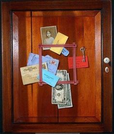 Gayle Blair Tate. Letter Rack with Picture of the Artist's Daughter