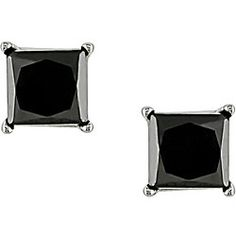 @Overstock.com - Simple yet elegant moonlight diamond earrings add a touch of pizazz to any attire Earrings feature exquisite princess-cut black diamonds Jewelry is crafted of 14-karat white goldhttp://www.overstock.com/Jewelry-Watches/Miadora-14k-Gold-3-4ct-TDW-Princess-Black-Diamond-Earrings/3470629/product.html?CID=214117