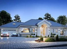 Modern Bungalow Exterior, Classic House Exterior, Modern Bungalow House, Bungalow House Plans, House Plans Mansion, My House Plans, Village House Design, Bungalow House Design, House Outside Design