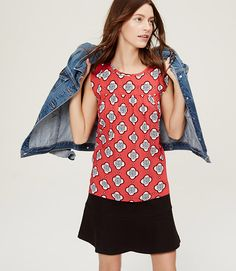 Image of Petite Floral Tile Sleeveless Top