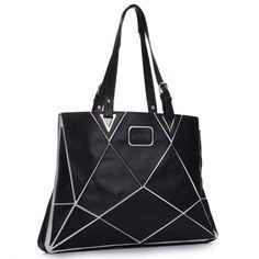 Pu leather patchwork handbag shoulder bag