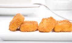 Receta de Croquetas de calabaza con salsa tonkatsu Tapas, Kefir, Cornbread, Side Dishes, Vegetarian Recipes, Appetizers, Vegetables, Tonkatsu, Ethnic Recipes