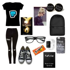 """""""Untitled #286"""" by sparkle-septiceye ❤ liked on Polyvore featuring Topshop, Converse, Rains, ZeroUV, Chanel and Montegrappa"""