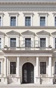 Building Facade In Neoclassical Style As Architectural Element Stock Photo, Picture And Royalty Free Image. Neoclassical Architecture, Classic Architecture, Facade Architecture, Facade Design, Exterior Design, Le Riad, Classic House Design, Classic Window, Classic Building