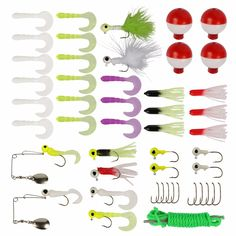 Goture 49pcs Complete Fishing Lure Kit Set for Bass with Tackle Box For Freshwater Saltwater Carp Fishing