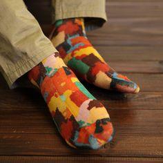 Cozy and crazy socks.