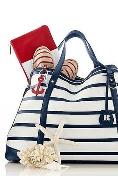 Nautical Looks, Nautical Stripes, Nautical Theme, Nautical Style, Nautical Bags, Nautical Outfits, Nautical Fashion, Blue Fashion, Nautical Clothing