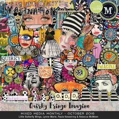 Mixed Media Monthly - Oct. '16 - QUIRKY / FRINGE / IMAGINE at #TLP. While this is not a CT product, I do purchase it at a discount because I CT for LBW. #digiscrapbooking #digitalscrapbooking