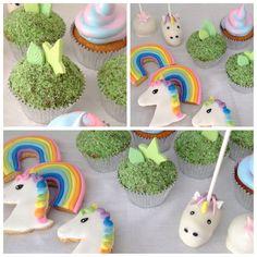 Cupcakes, galletas y cake pops de unicornios
