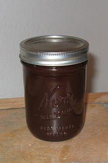 Home made chocolate syrup