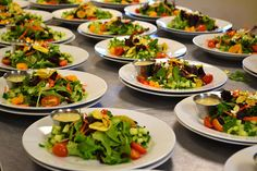 CateringCC - Salads prepared by catering service Wedding Appetizers, Boynton Beach, Catering Services, Wedding Catering, Cobb Salad, Salads, Food, Restaurant Service, Meals