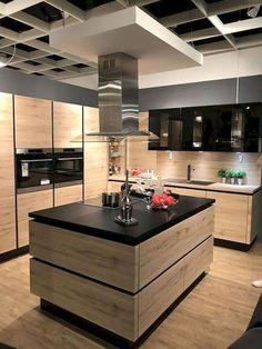 Creative ways inspirational modern kitchen island design ideas 10 Modern Kitchen Island, Modern Kitchen Cabinets, Kitchen Sets, Kitchen Layout, Rustic Kitchen, Diy Kitchen, Kitchen Furniture, Kitchen Decor, Kitchen Islands