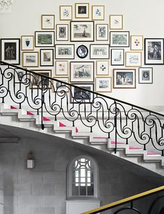 gallery wall at the British Ambassador's residence in Washington | Pomp and Circumstance - Lonny