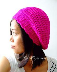 MisFydKrafts: Crochet Slouchy Beanie Beret Style