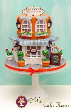 Bakery Cake...wow! Id soo love to gain experience, and make beautiful cakes like this one someday!