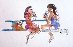 Chatting at a BBQ. San Jose, California by suhita1, via Flickr