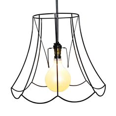 Lamp shade bulb clip adapter clip on with shade attaching finial by oval skeleton lampshade 14 black donna walker at livingetc x clippings aloadofball Images