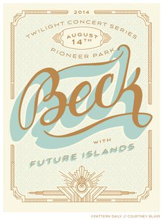 Beck // Gig Poster // Courtney Blair