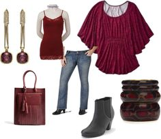 """Burgundy Outfit"" by intcon on Polyvore"