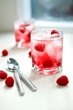Cran-Raspberry juice and lemon-lime soda combine to create this bubbly Valentine's Day mocktail. Just add champagne to add an adult twist.