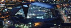 FIRST NIGHTSHOT OF US BANK STADIUM FULLY LIT. ... | Vikings Daily