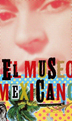 The Mexican Museum 20th anniversary poster, 1995, Jennifer Morla