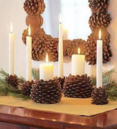 Candle holder - mirror