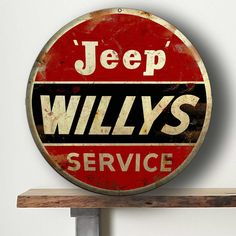 Antique Vintage Style Look Jeep Willys Sign Poster Home Bar Pub Wall Decor from $0.99