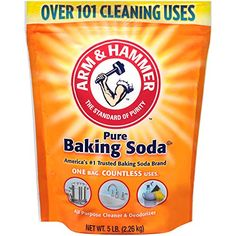 Find amazing White Vinegar and Baking Soda cleaning hacks.Cheap all natural cleaning hacks for the home. Anyone can make this easy DIY cleaner. Arm And Hammer Baking Soda, Soda Brands, Dog Smells, House Smells, Powder Recipe, Revlon, Bath Bombs, Gourmet Recipes, Cooking Recipes
