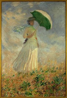 "Claude Monet: ""woman with umbrella"""