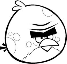 How to draw Terence from Angry Birds Space with easy step by step drawing tutorial