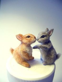 Dollhouse Miniature Baby Bunnies *Handsculpted*