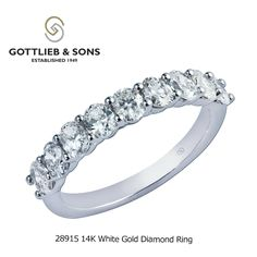 This gorgeous 14K White Gold Diamond ring is extra special.  This #diamond ring features nine dazzling shared prong set oval diamonds that will make any occasion memorable. Visit your local #GottliebandSons retailer and ask for style number 28915. http://www.gottlieb-sons.com/product/detail/28915