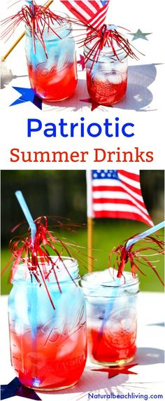 The Best Patriotic Non Alcoholic Summer Drinks, Kid Friendly Summer Drinks, Easy Summer Drink Recipe Everyone Loves, Perfect July Recipe Party Idea non alcoholic drinks How to Make Patriotic Non Alcoholic Summer Drinks - Perfect of July Drinks Summer Drink Recipes, Cocktail Recipes, Chinese Lemon Chicken, Beste Cocktails, Banana Split Dessert, Blue Drinks, Beach Drinks, Cold Drinks, Refreshing Summer Drinks
