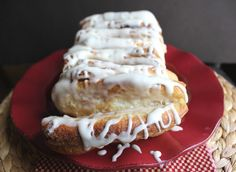 Cinnamon pull-apart bread (my husband and I liked that the bread itself wasn't overly sweet... you can customize it with more or less glaze on top!)