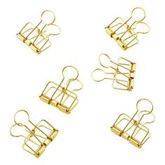 Gold Wire Binder Clips | The Container Store