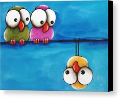 The Odd Guy Canvas Print by Lucia Stewart. All canvas prints are professionally printed, assembled, and shipped within 3 - 4 business days and delivered ready-to-hang on your wall. Choose from multiple print sizes, border colors, and canvas materials.