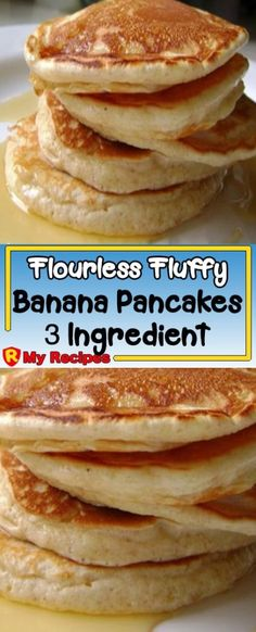 Flourless Fluffy Banana Pancakes – 3 Ingredient Recipe – My Recipes What should a healthy eating lis Healthy Banana Recipes, Banana Bread Recipes, Recipes For Bananas, Overripe Banana Recipes, Banana Breakfast Recipes, Baby Food Recipes, My Recipes, Cooking Recipes, Recipies