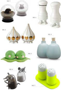 cute and quirky salt  shakers