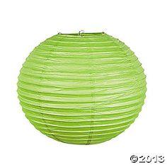 Lime Green Paper Lanterns