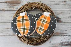 Plaid pumpkins - Clough'd 9 Cookies