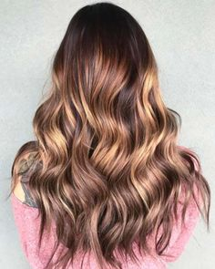 Balayage High Lights To Copy Today - Raspberry Peach - Simple, Cute, And Easy Ideas For Blonde Highlights, Dark Brown Hair, Curles, Waves, Brunettes, Natural Looks And Ombre Cuts. These Haircuts Can Be Done DIY Or At Salons. Don't Miss These Hairstyles! - https://thegoddess.com/balayage-high-lights-to-copy