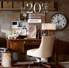The kids are getting new school supplies. We think you deserve some too! Save 20% off All Home Office Furniture.